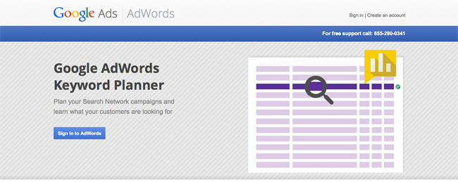 Keyword Planning Google Adwords